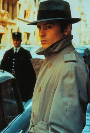 Alain Delon fashion trench coat