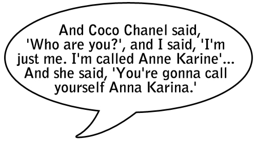 Anna Karina quote